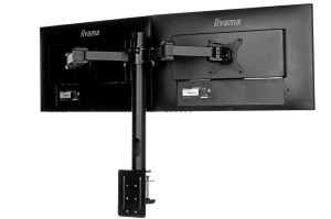 Wielozadaniowość na wyższym poziomie z uchwytem na dwa monitory iiyama DS1002C-B1