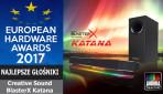 Sound BlasterX Katana zdobywa prestiżową nagrodę EUROPEAN HARDWARE AWARDS 2017 za najlepsze głośniki