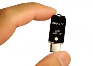 Nowy, elegancki PNY USB Typ C 3.0 / USB 3.0 Flash Drive