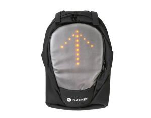 Na rowerze jak w samochodzie – Platinet prezentuje plecak z kierunkowskazami LED