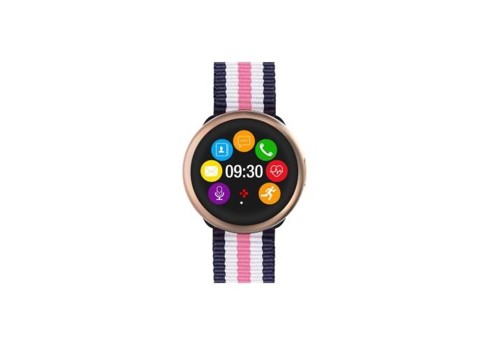 ZeRound2HRPremium-Blue&Pink&White Nato-Front view-Watchface_1